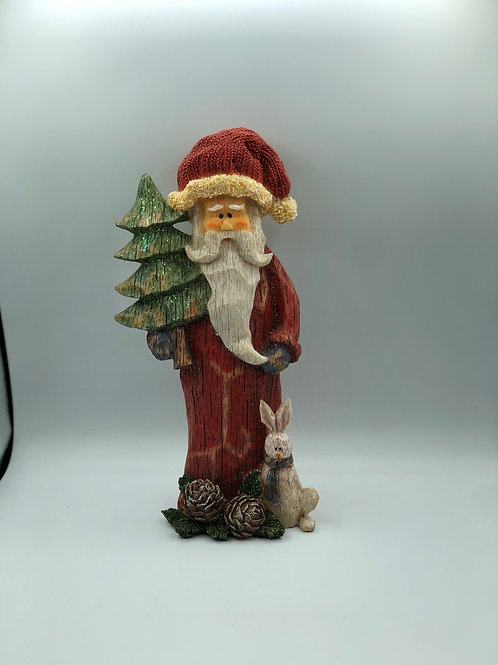 Wooden Carved Santa (XMAS3)