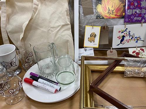 Ceramic Painting + Peg Frame Boards Activity Set
