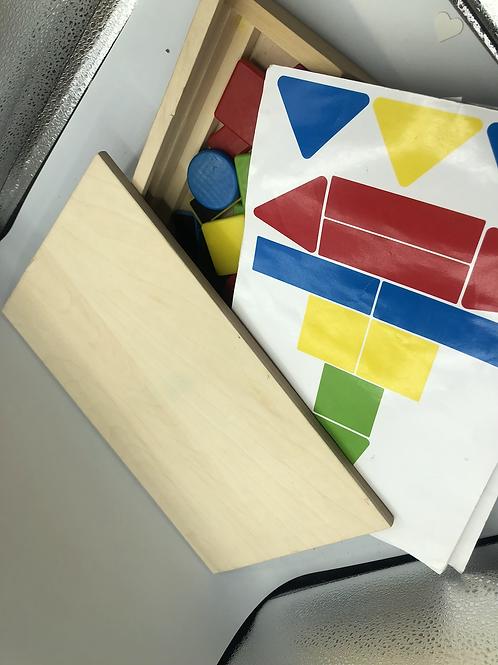 Wooden magnet toy set (E)