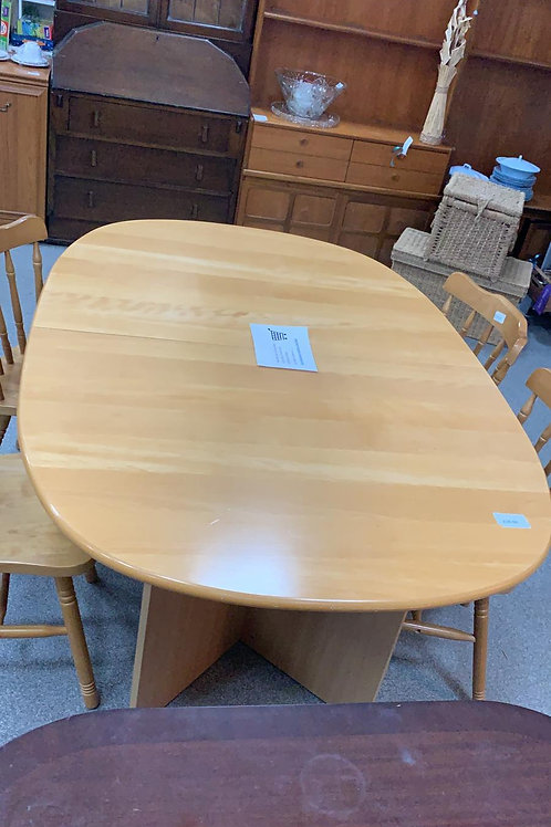Light wood extending table