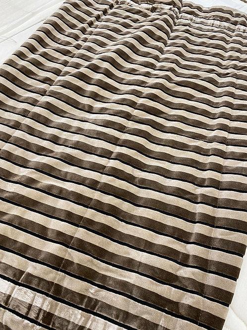 Striped Velvet Blind 178cm drop x 114cm width