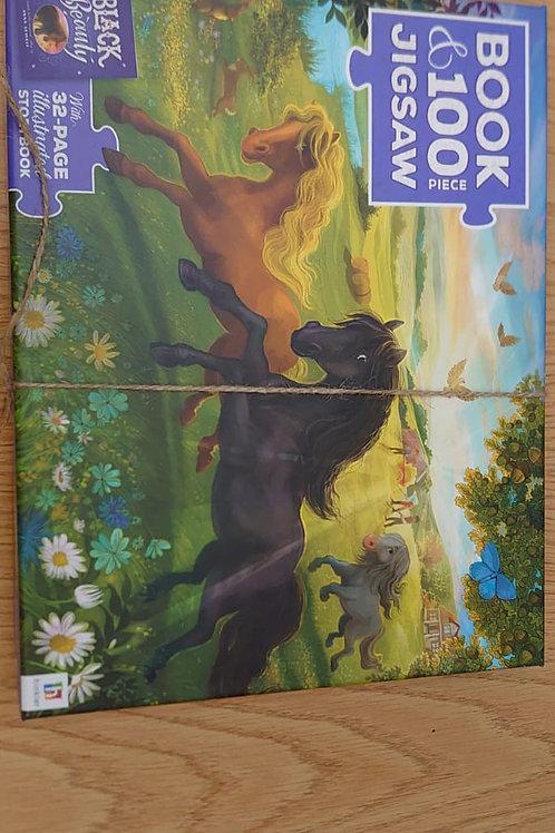 Black beauty 100 piece jigsaw, no book (GC3)