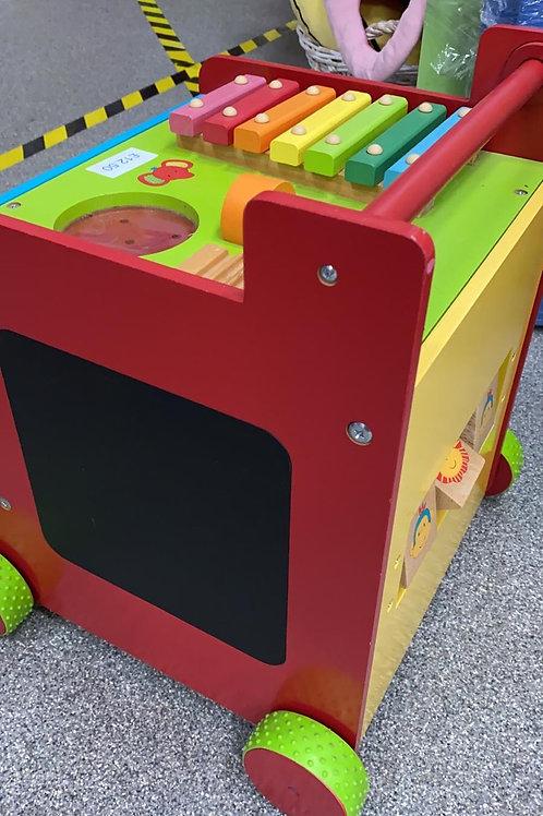 Children's Wooden Multi Activity Centre on wheels (0:3)