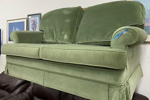 Green Velvet 2 Seater Sofa Parker knoll (SS Dine 53 Green)