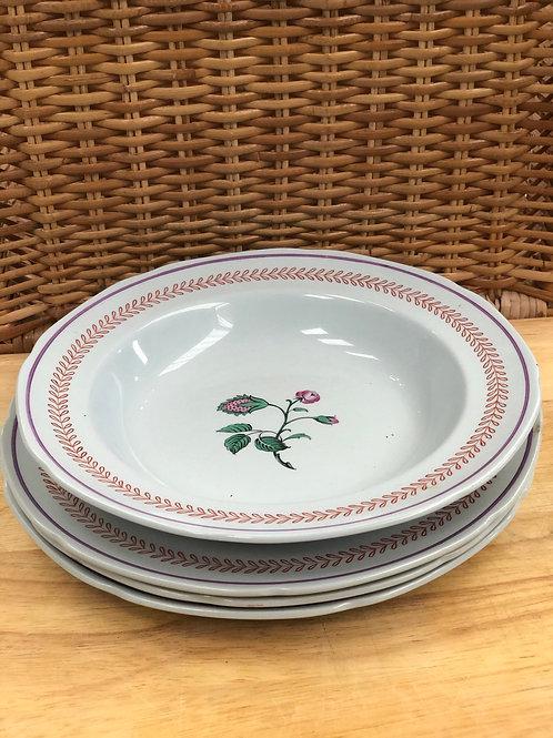George Washington at Mount Vernon Copeland 3 plates and bowl (F1)