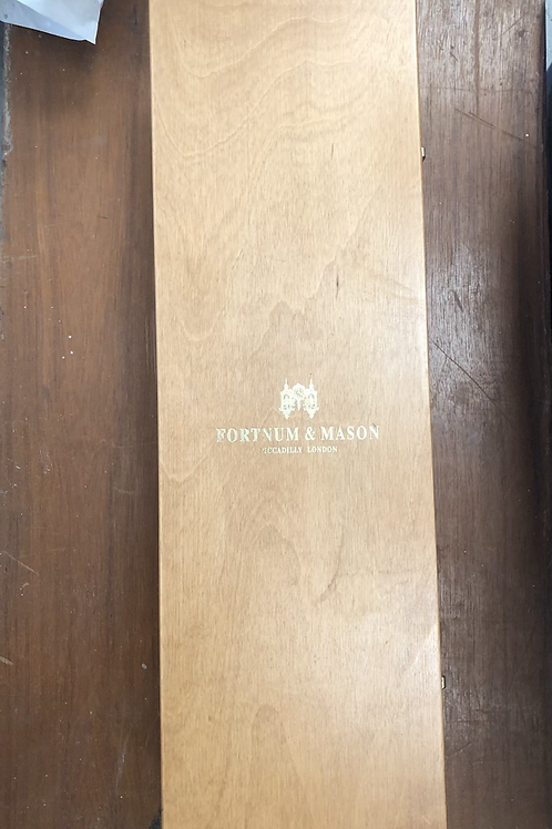 Fortnum and mason wooden champagne presentation box (A)
