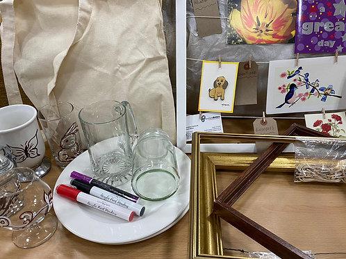 Glass/Ceramics Writing kit and Peg Picture frame kit