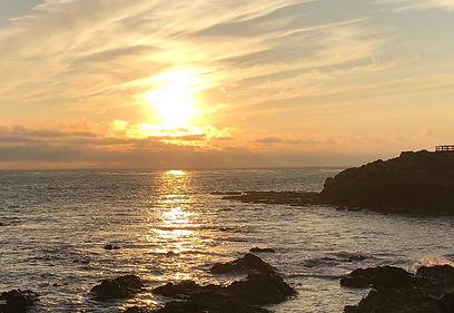 Sunset on Moonstone Beach, California
