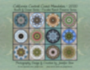 California Cenral Coast Mandalas 2020 - A calendar by Jennifer Star
