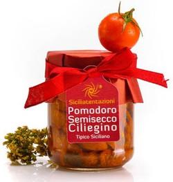 Tomates cerises semi-séchées