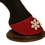Thumbnail: Glitter Red with White Snowflakes Christmas Hoofies