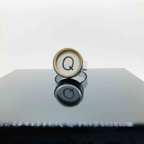 """Schreibmaschinen-Ring """"Q"""""""