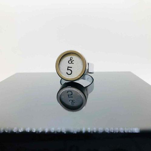 """Schreibmaschinen-Ring """"&5"""""""