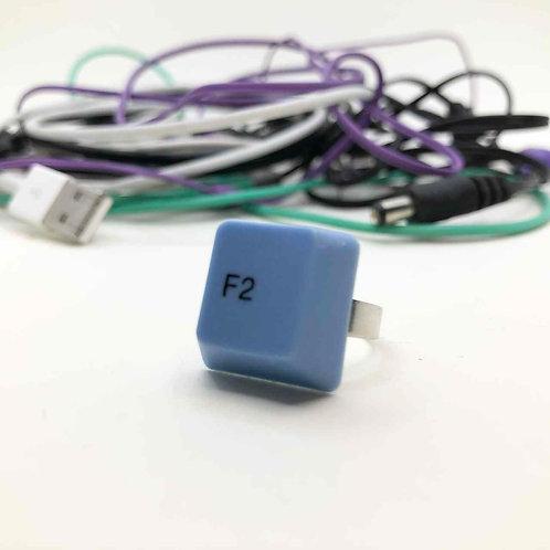 PC-Tastatur-Ring blau: Funktionstaste 2