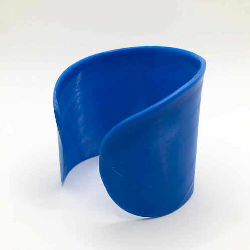 Schallplatten-Armreif: blau