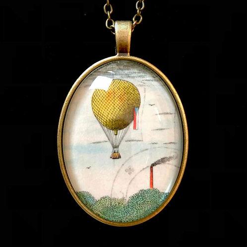 Heissluftballon: Lithographie (gestempelt)