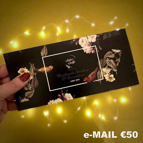 Gutschein €50 (per E-Mail)