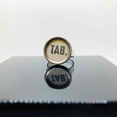 """Schreibmaschinen-Ring """"TAB."""""""