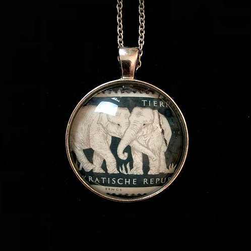 Elefantenpärchen, 1956 (gestempelt)