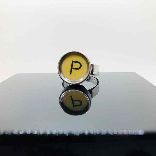 """Schreibmaschinen-Ring """"P"""""""