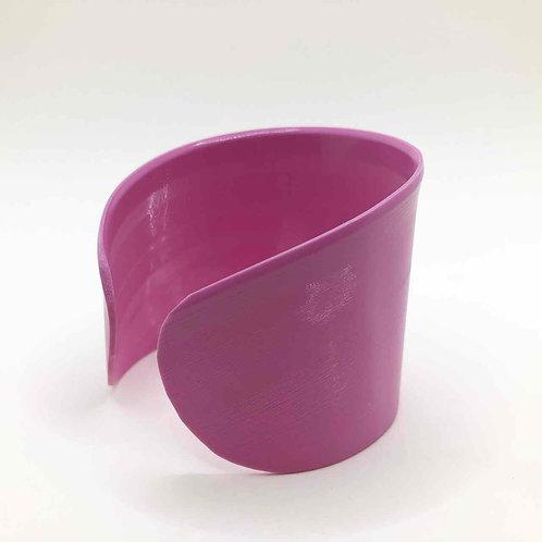 Schallplatten-Armreif: rosa