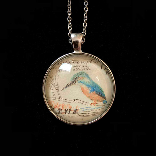 Aquarell-Vogel: Eisvogel