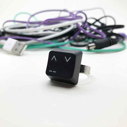 PC-Tastatur-Ring schwarz: Asia Smiley