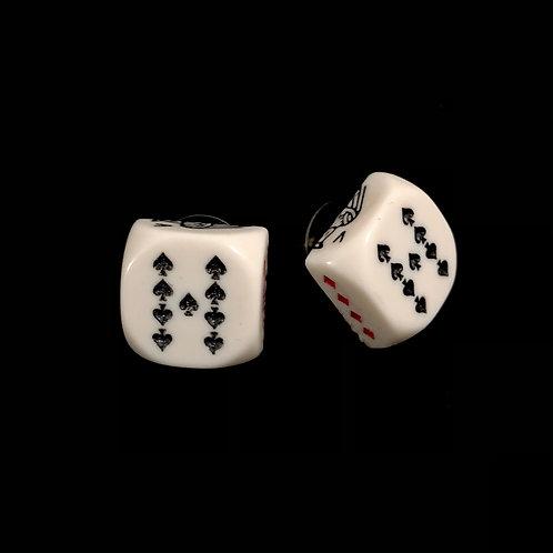 Poker Ohrstecker Neun