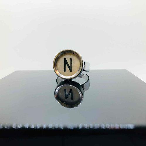 """Schreibmaschinen-Ring """"N"""""""