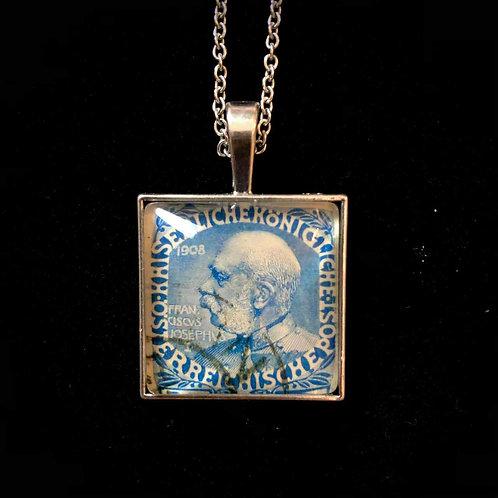 Franz Joseph, 1908 blau (gestempelt)