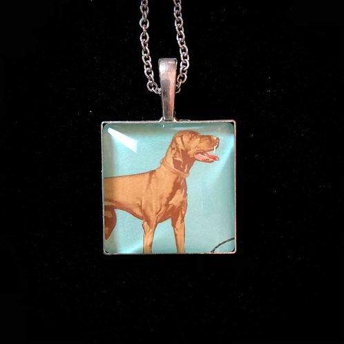 Vizsla Hund (gestempelt)