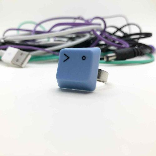PC-Tastatur-Ring blau: Zwinker