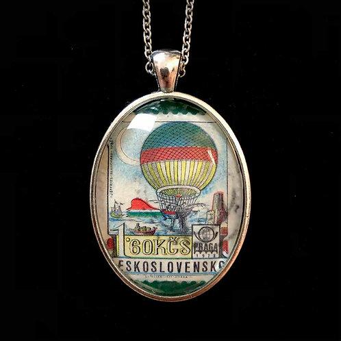 Heissluftballon: Jules Verne-Style (gestempelt)