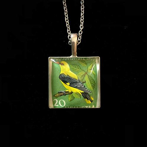 Vogel gelb/schwarz/grün (1969, Schweiz)
