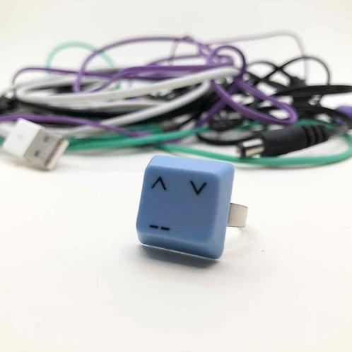 PC-Tastatur-Ring blau: Asia Smiley