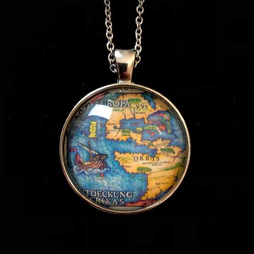 Seekarte: Entdeckung Amerikas