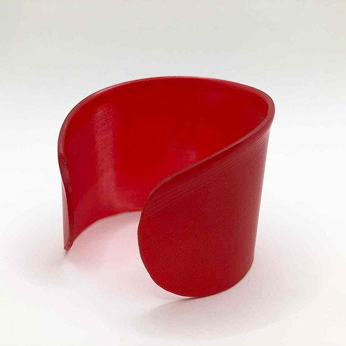 Schallplatten-Armreif: rot transparent