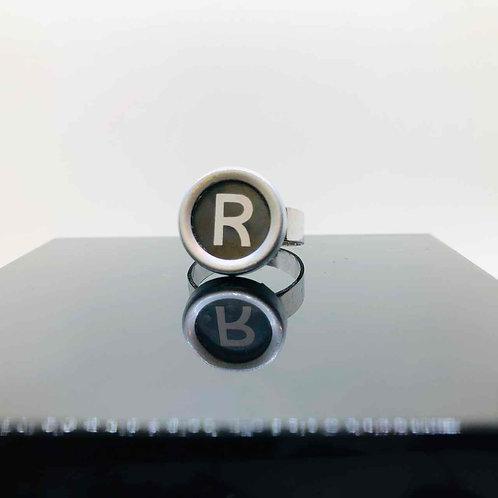 """Schreibmaschinen-Ring """"R"""""""