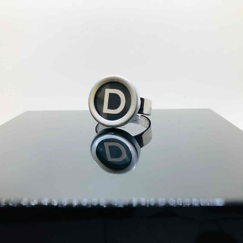 """Schreibmaschinen-Ring """"D"""""""