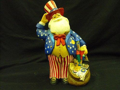 Uncle Sam Santa by Gare