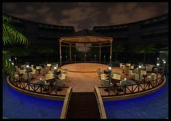 Poolside Resonator Night View