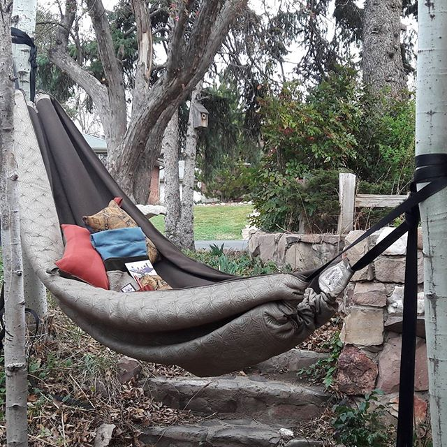 New Fabric Hammock out for sale, Im calling this one Down to Earth!! The colors are rich, neutral an
