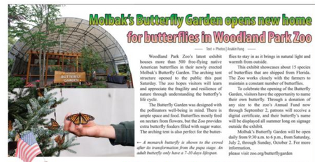 Molbak's Butterfly Garden opens new home for butterflies in Woodland Park Zoo