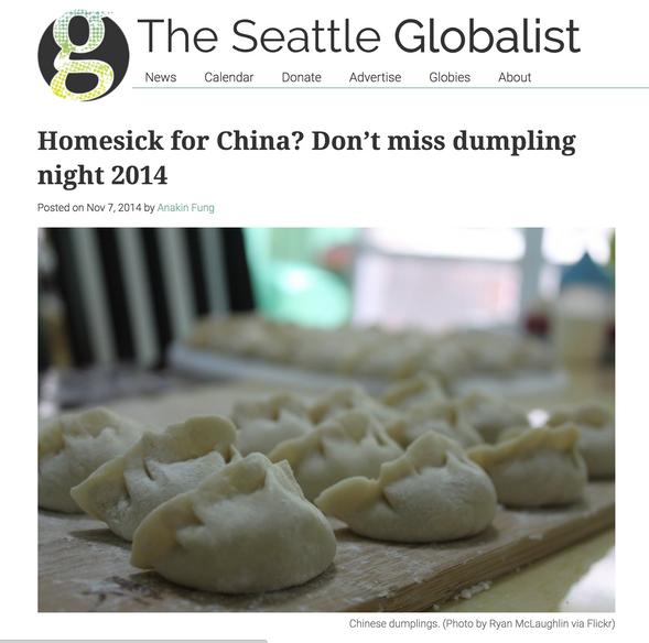 Homesick for China? Don't miss dumpling night 2014