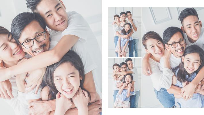 Family Portrait - Studio Shoot Album Layout