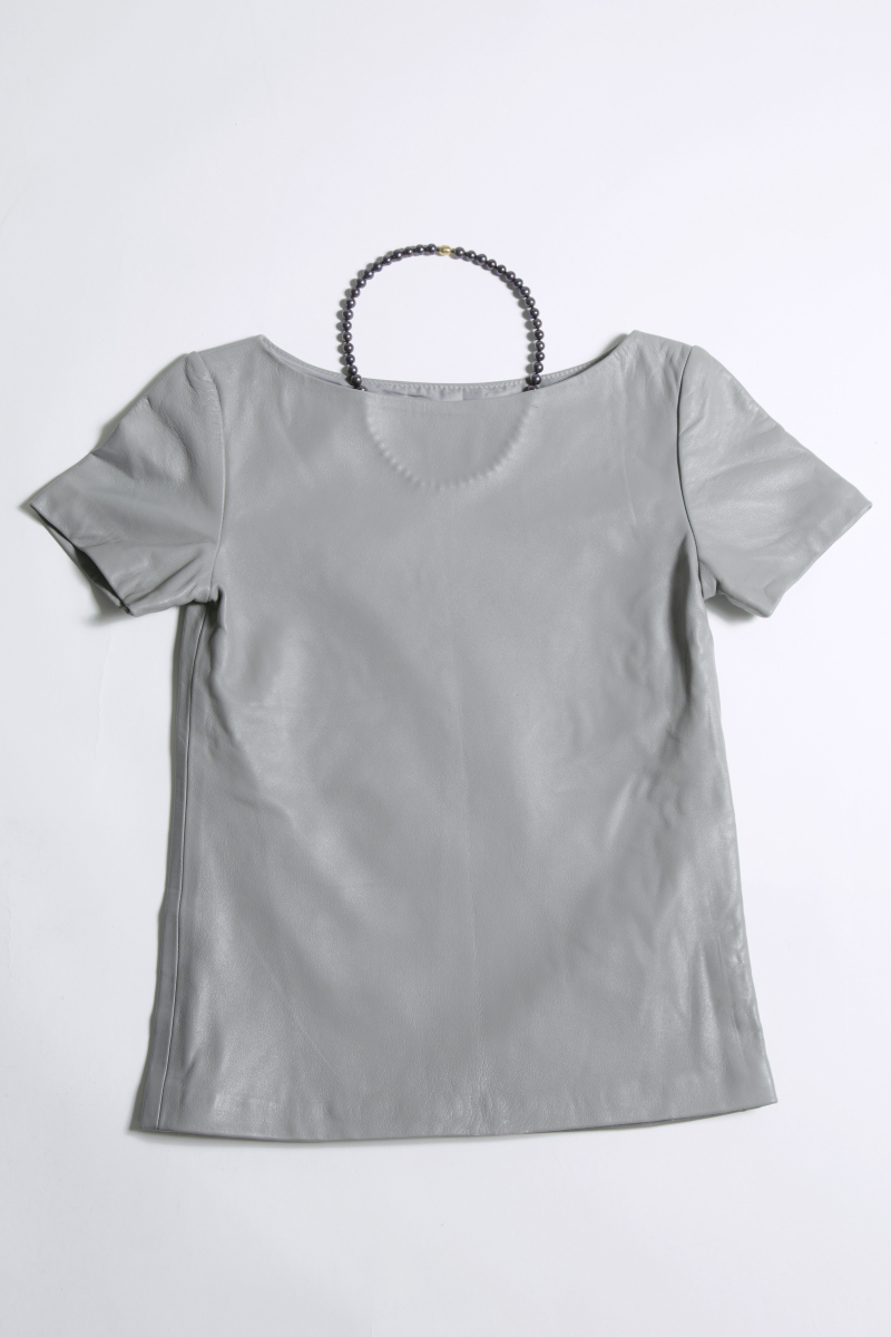 Pearl Necklace Leather Garment