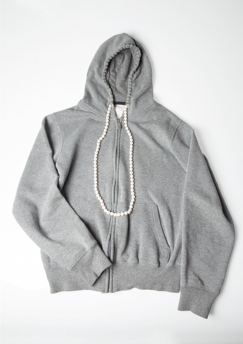 Hidden Pearl Necklace Hoodie