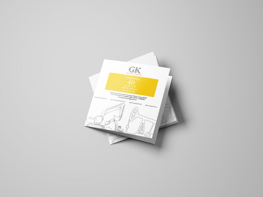 Square Trifold Brochure Mockup - 1Versio