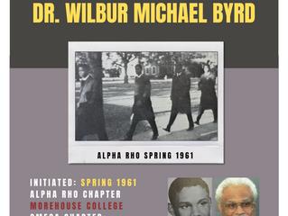 ALPHA RHO BROTHER WILBUR MICHAEL BYRD ENTERS OMEGA CHAPTER OF ALPHA PHI ALPHA FRATERNITY, INC.