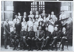 Father Bowden far left, with Episcopal chuch college students at Atlanta University, 1925